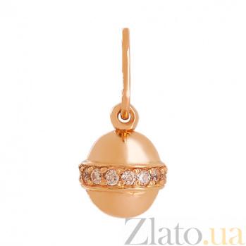 Подвеска из красного золота с фианитами Персия VLN--214-1683