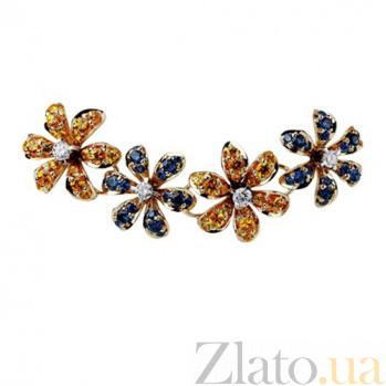 Золотое колье с бриллиантами Лилия KBL--Я5011/крас/брил