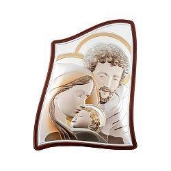 Серебряная икона Святое Семейство с эмалью 000148346