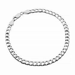Серебряный браслет с родием, 4 мм 000027808