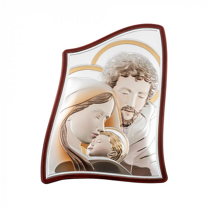 Серебряная икона Святое Семейство с эмалью 000148346 000148346
