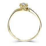 Золотое кольцо Счастливая жизнь в желтом цвете с бриллиантом 3,5мм