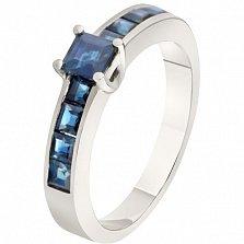 Золотое кольцо с сапфирами Диана