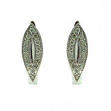 Серебряные серьги с бриллиантами Петра
