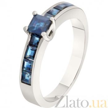Золотое кольцо с сапфирами Диана KBL--К1851/бел/сапф