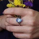 Серебряное кольцо Камелот с кварцем цвета танзанит