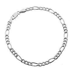 Серебряный браслет Сарагоса с родием, 2,5 мм