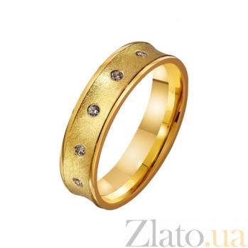 Золотое обручальное кольцо с фианитами Беверли TRF--4121671