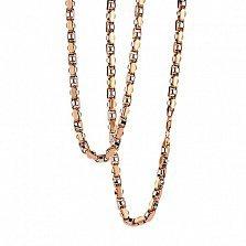 Золотая цепь Рошфор в комбинированном цвете металла