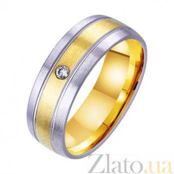Золотое обручальное кольцо Империя чувств с фианитом TRF--4521751