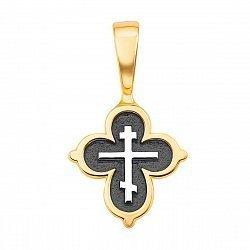 Серебряный крестик с позолотой 000122647