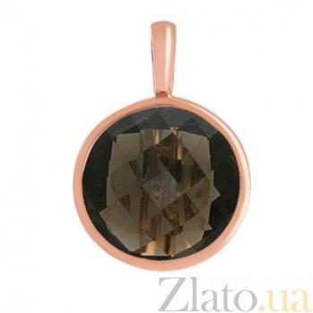 Золотой кулон с раухтопазом Медисон VLN--114-200-2