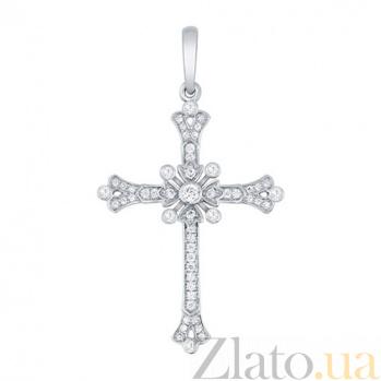Золотой крестик с цирконами Джульетта VLT--Т3439