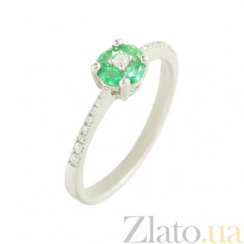 Золотое кольцо с изумурудами и бриллиантами Аманда 1К441-0093