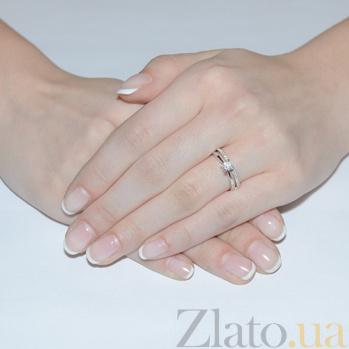 Золотое кольцо с фианитами  Хрустальная чистота SUF--140619б
