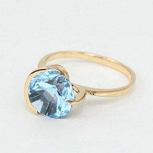 Золотое кольцо с голубым топазом Клэр
