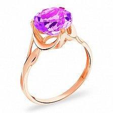 Золотое кольцо с аметистом Эйприл