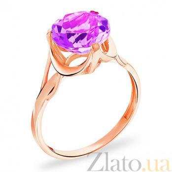 Золотое кольцо с аметистом Эйприл SUF--140655Па
