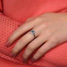 Кольцо в белом золоте Новые впечатления с сапфиром и бриллиантами