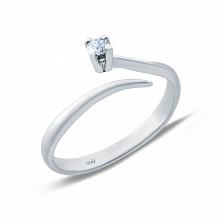 Серебряное кольцо с цирконом Безграничная любовь