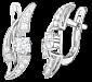 Серебряные серьги с фианитами Волна нежности SLX--С2Ф/068