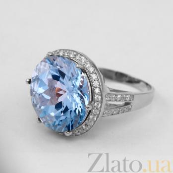 Золотое кольцо с топазом и фианитами Успех VLN--112-1387-1*