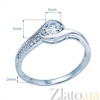 Серебряное кольцо на помолвку AQA--XJT-0087-R