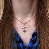 Серебряная подвеска Mad Fairy с голубым цирконием