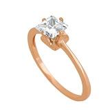 Кольцо из красного золота с фианитом Принцесса