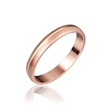 Серебряное кольцо Баллада с позолотой