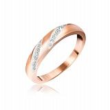 Серебряное кольцо Фаина с фианитами и позолотой