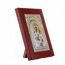 Икона Иверская Божья Матерь на деревянной основе, 18х23см