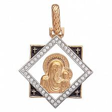 Серебряная ладанка Казанская Божья Матерь