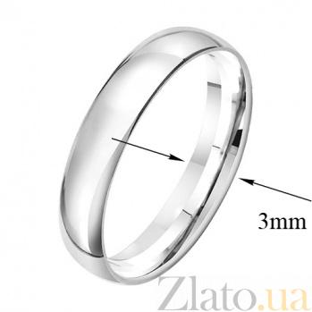 Серебряное обручальное кольцо Элегантность 000006500