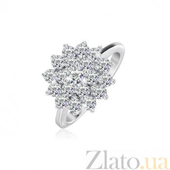 Серебряное кольцо с цирконием Альфия 000028096