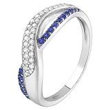 Серебряное кольцо с синим цирконием Анита