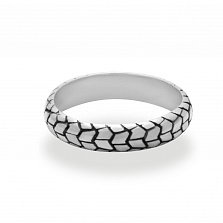 Кольцо из белого золота Michelin sirac front с чернением