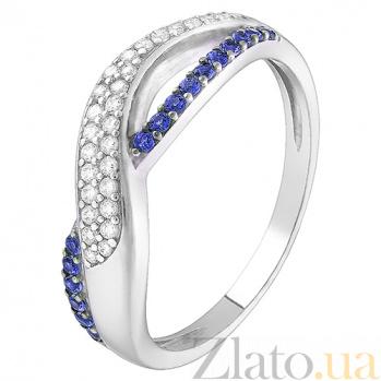 Серебряное кольцо с синим цирконием Анита 1891/9р цир син
