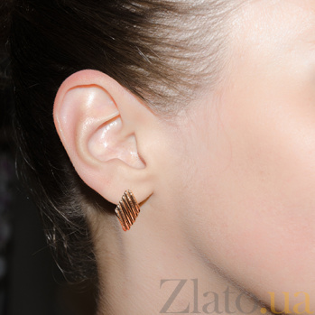 Серьги из красного золота Эмили TNG--470566