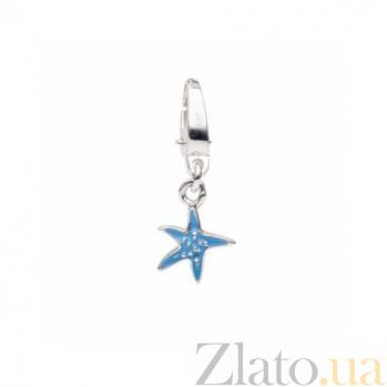 Серебряная подвеска с эмалью Морская звезда 000030662