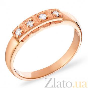Золотое кольцо с фианитами Лайза SUF--140218