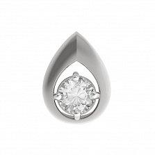 Золотой кулон Магия формы в белом цвете с фианитом