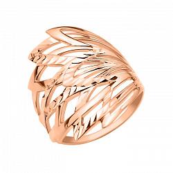 Кольцо из красного золота Павлина с алмазной гранью