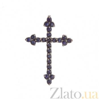 Золотой крестик с сапфирами Звездная ночь SVA--3110152/Сапфир