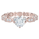 Кольцо из розового золота с бриллиантами Очарование