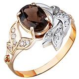 Золотое кольцо с раухтопазом Эмма