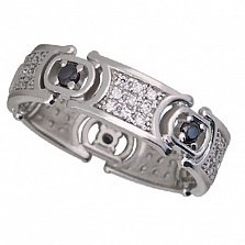 Обручальное кольцо из белого золота Мелинда