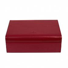 Красная шкатулка для шармов WindRose Merino с бежевой обивкой