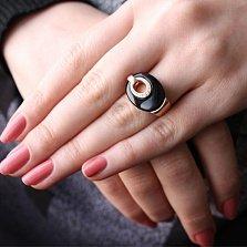 Золотое кольцо с агатом и фианитами Дорога к счастью