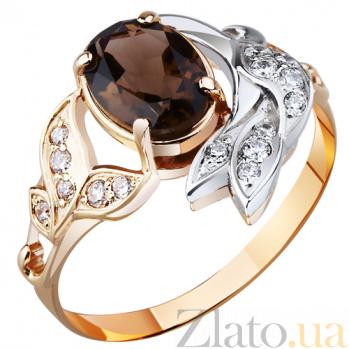 Золотое кольцо с раухтопазом Эмма AUR--31607 04